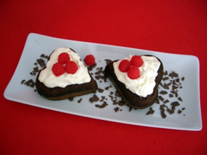 corazones de chocolate para aniversario