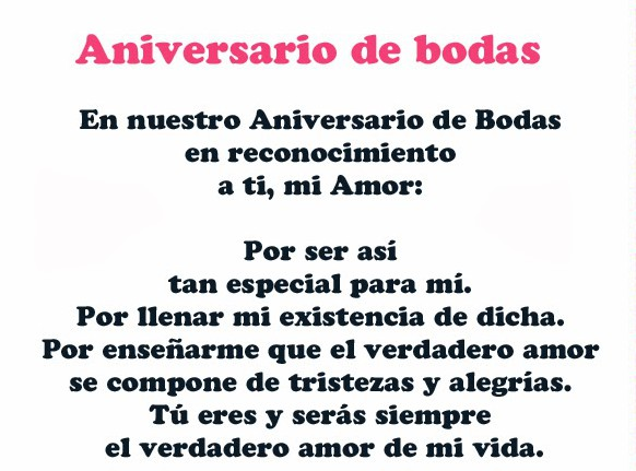 Mensajes De Aniversario De Matrimonio Imágenes De Aniversario